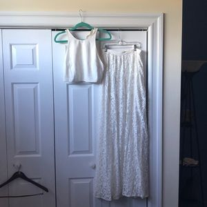 Two piece white dress